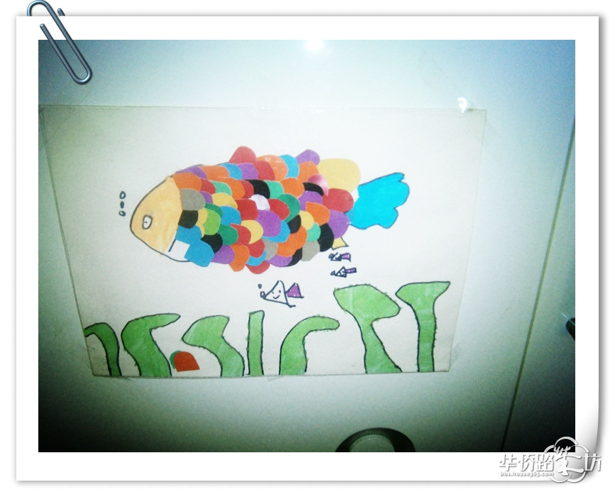 纸盘手工制作金鱼