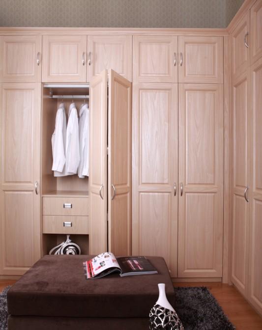 推荐一款简约欧式平开门衣柜!(有细节图)