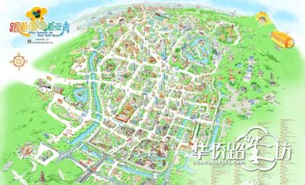 q版的南京旅游地图,好想要一份啊图片