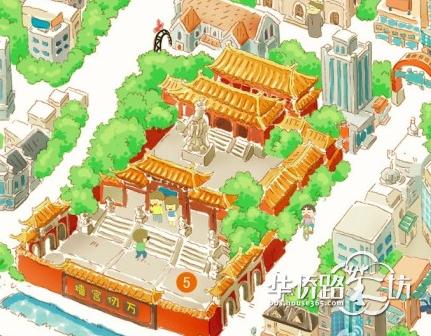 q版的南京旅游地图,好想要一份啊