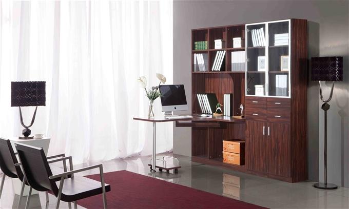 简易连体书柜书桌,最简单的设计其实也最深入人心