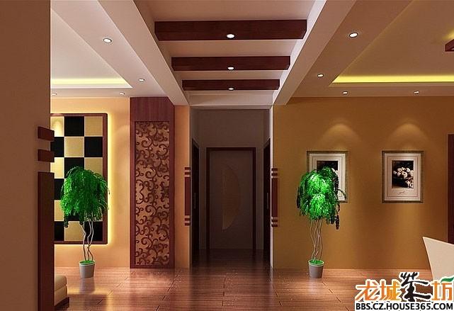 家装客厅吊顶效果图展示 家装大家谈 龙城茶坊