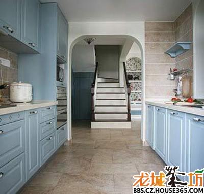 复古装修效果图:厨房