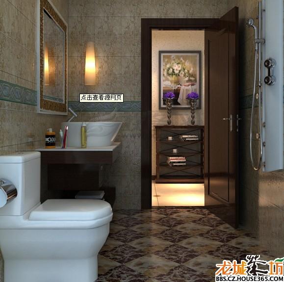 卫生间设计图 干湿分离