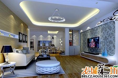客厅吊顶效果图   古典欧式风格客厅装修样板