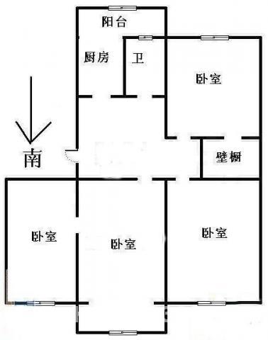 包河区曙光新村老式精装四室一厅三室朝南免税学区房