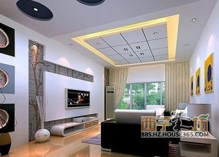 不同风格的客厅异形吊顶效果图