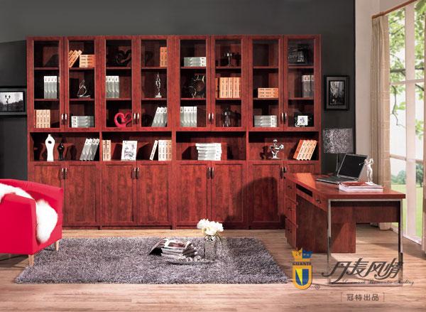 型材:此书柜柜体采用实木颗粒