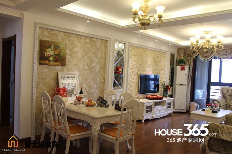 爱士居装饰琥珀五环城126平米欧式宫廷样板房-装修