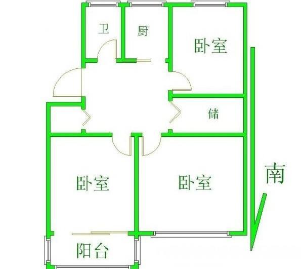地铁口云南路小区惊现三室精装房 双南全明 得房超高 正规小区