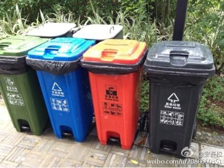 我们看到了分类的垃圾桶……