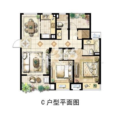 绿地中央广场C户型平面图
