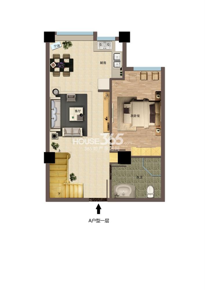 东方红郡公寓A户型一层