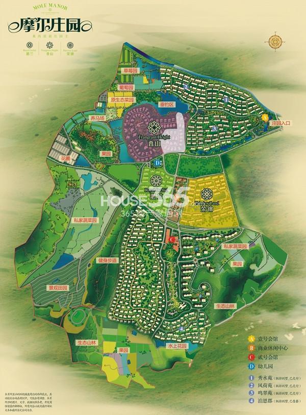 摩尔庄园总平面图图片