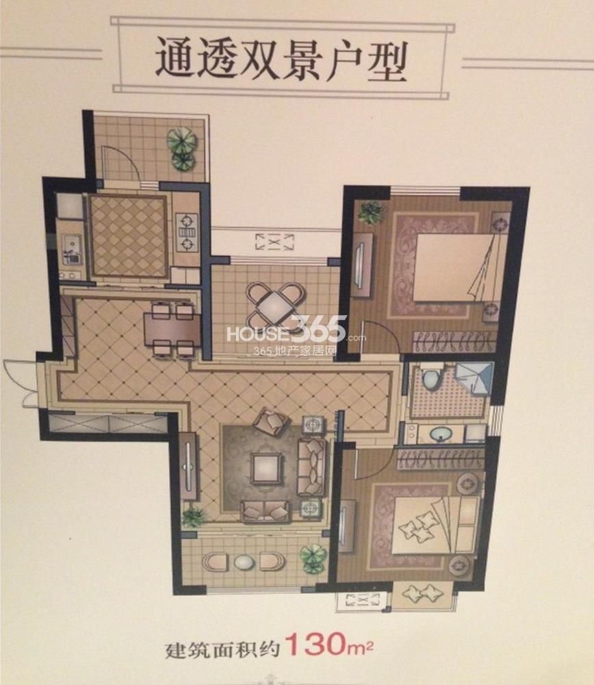 恒盛金陵湾5号楼标准层130㎡户型(12.30)