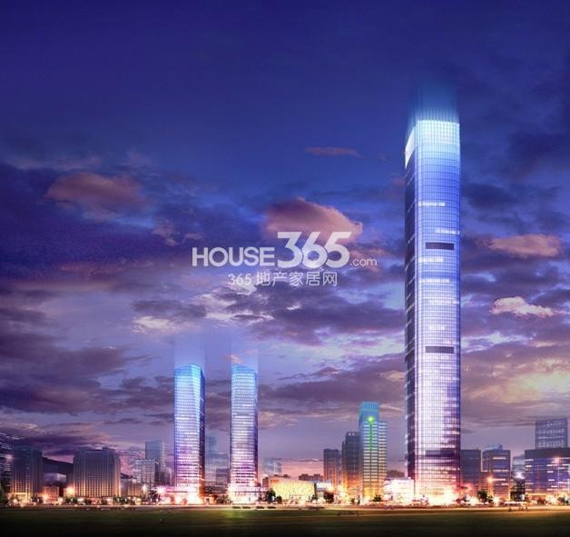 中铁西安中心远景透视图