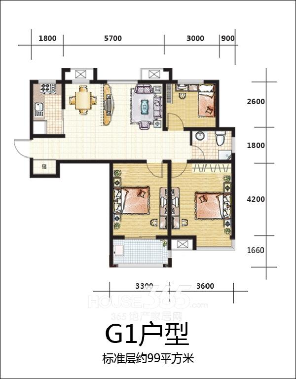 和谐家园G1户型