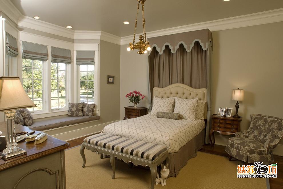 欧式卧室飘窗装修效果图图片