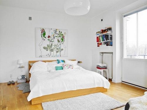 北欧风格装修图片 白富美晒78平米白色雅致家