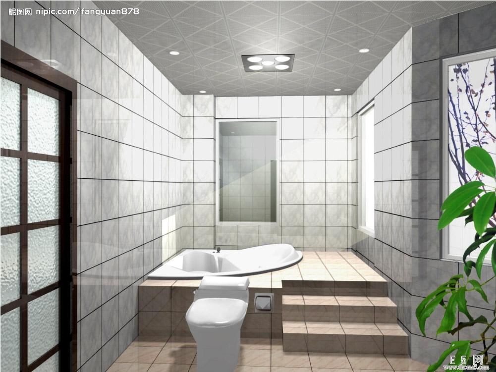 卫生间吊顶效果图 15款精致装修案例也很实用-365