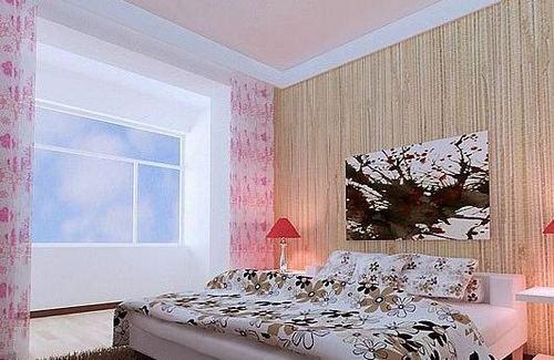 卧室墙纸效果图 清新色调打造温馨睡眠空间