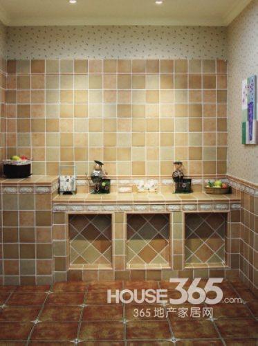 厨房地板砖效果图:欧式乡村气质