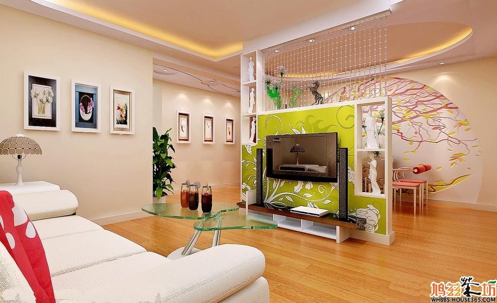 客厅隔断墙怎么装饰效果图1 客厅线帘隔断墙        由于客厅