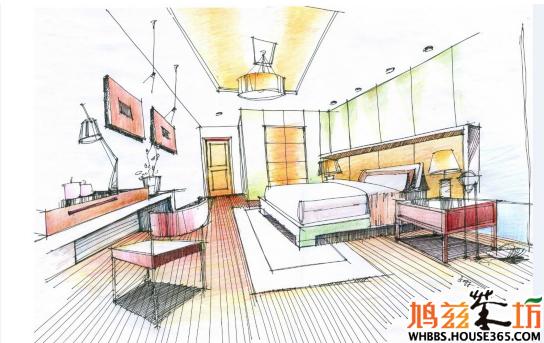 空间 手绘 设计图 设计/室内设计手绘教程——卧室手绘效果图