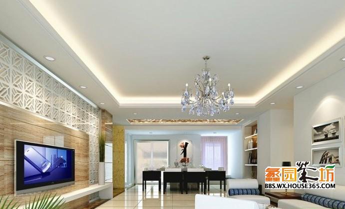> 客厅吊顶装修效果图 装修风格不同 客厅吊顶也不同