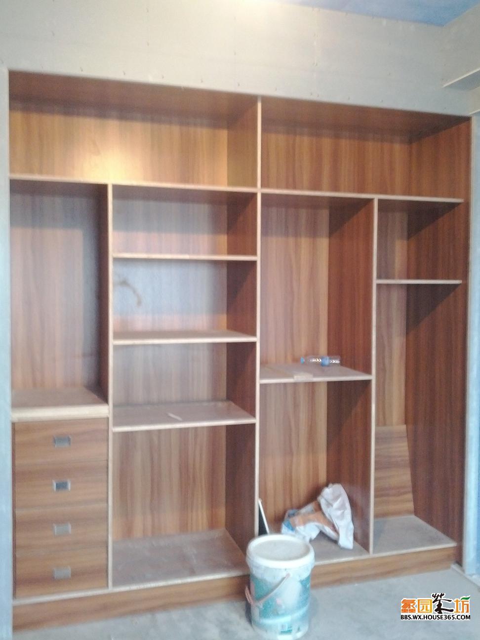 木工做层板书桌效果图大全-书桌层板架造型