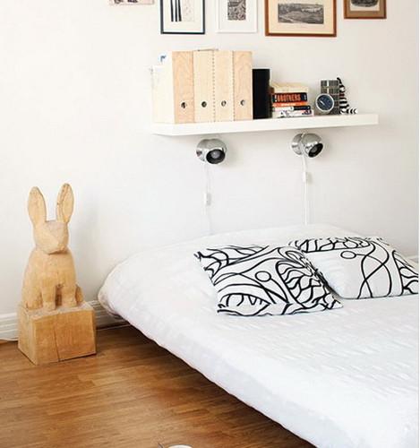 小清新卧室装修 小空间的收纳大技巧