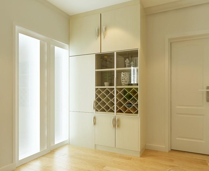 入户玄关装修效果图:很宽敞清爽的玄关设计.高清图片