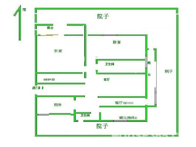 两室一厅电路分布图