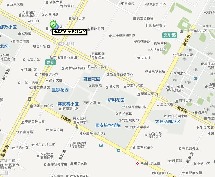 浐灞的西安领事馆区在地图上找了找发现了位置